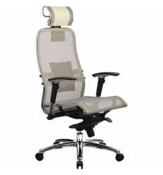 Кресло Samurai S-3.03 бежевый для руководителя, сетка