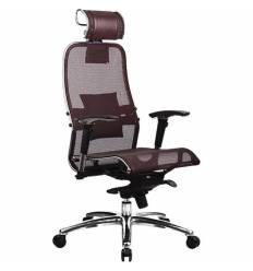 Кресло Samurai S-3.03 бордовый для руководителя, сетка