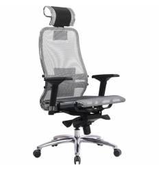 Кресло Samurai S-3.03 серый для руководителя, сетка