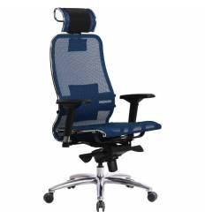 Кресло Samurai S-3.03 синий для руководителя, сетка