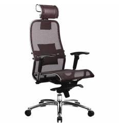 Кресло Samurai S-3.03 темно-коричневый для руководителя, сетка