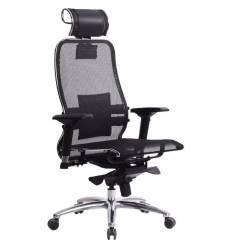 Кресло Samurai S-3.03 черный для руководителя, сетка