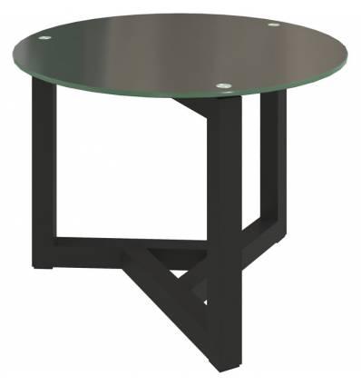Стол КРОНИД Триада-14 СЧ журнальный со стеклом, цвет черный/черное стекло