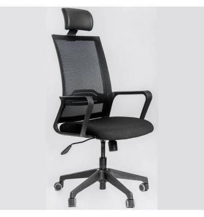 Кресло FALTO D3 Black для руководителя, сетка-ткань, цвет черный