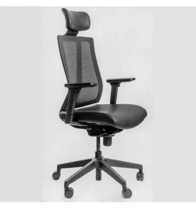 Кресло FALTO G1 ECO-Black для руководителя, сетка-экокожа, цвет черный