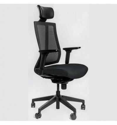 Кресло FALTO G1 Black для руководителя, сетка-ткань, цвет черный