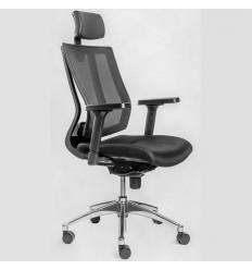 Кресло FALTO PROMAX Black для руководителя, сетка-ткань, цвет черный