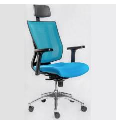 Кресло FALTO PROMAX Blue для руководителя, сетка-ткань, цвет синий