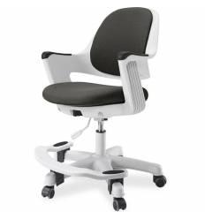 Кресло FALTO Robo Grey детское, эргономичное, белый каркас, ткань, цвет серый