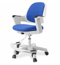 Кресло FALTO Robo Blue детское, эргономичное, белый каркас, ткань, цвет синий