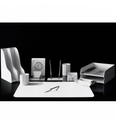 Настольный набор Бизнес, 13 предметов, кожа Сuoietto, цвет белый
