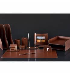 Настольный набор Люкс, 14 предметов, кожа Full Grain Tan