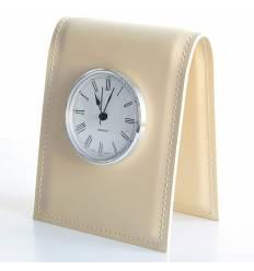 Часы настольные с циферблатом D85, кожа Cuoietto