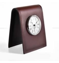 Часы настольные с циферблатом D85, кожа Full Grain/Cuoietto