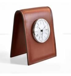 Часы настольные с циферблатом D85, кожа Full Grain