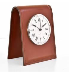Часы настольные с циферблатом D103, кожа Full Grain
