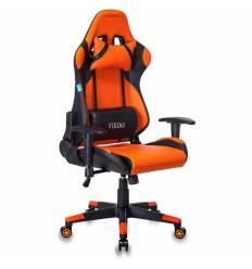 Кресло Бюрократ CH-778N/BL+ORANGE игровое, экокожа, черный/оранжевый