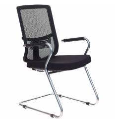 Кресло Бюрократ MC-619/B/26-B01 для посетителя, цвет черный, спинка сетка