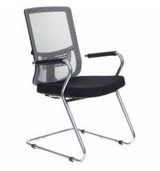 Кресло Бюрократ MC-619/GR/26-B01 для посетителя, цвет серый/черный, спинка сетка