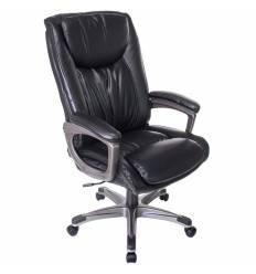 Кресло Бюрократ T-9914/BLACK для руководителя, рец.кожа/кожзам, цвет черный