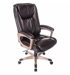 Кресло Бюрократ T-9914/BROWN для руководителя, рец.кожа/кожзам, цвет коричневый