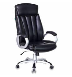 Кресло Бюрократ T-9922/BLACK-PU для руководителя, экокожа, цвет черный