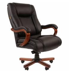 Кресло CHAIRMAN 503 для руководителя усиленное до 180 кг, кожа, цвет черный