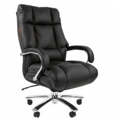 Кресло CHAIRMAN 405 для руководителя усиленное до 180 кг, кожа, цвет черный