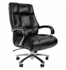 Кресло CHAIRMAN 405 ЭКО для руководителя усиленное до 180 кг, экопремиум, цвет черный