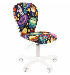 Кресло CHAIRMAN KIDS 105 NLO детское, белый пластик, ткань, с рисунком НЛО
