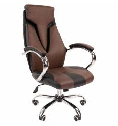 Кресло CHAIRMAN 901 Brown для руководителя, экокожа, цвет коричневый/черный