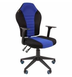 Кресло CHAIRMAN GAME 8 BLUE геймерское, кань, цвет синий/черный