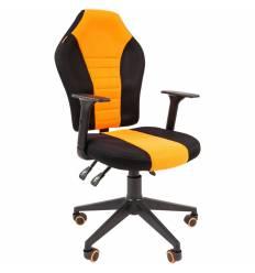 Кресло CHAIRMAN GAME 8 ORANGE геймерское, кань, цвет оранжевый/черный