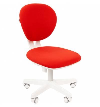 Кресло CHAIRMAN KIDS 108 RED детское, белый пластик, ткань, цвет красный