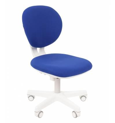 Кресло CHAIRMAN KIDS 108 BLUE детское, белый пластик, ткань, цвет синий