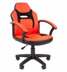 Кресло CHAIRMAN KIDS 110 RED детское, ткань/экокожа, цвет красный/черный