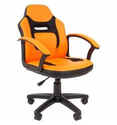 Кресло CHAIRMAN KIDS 110 ORANGE детское, ткань/экокожа, цвет оранжевый/черный