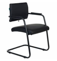 Кресло Бюрократ CH-271N-V/BLACK для посетителя, экокожа, цвет черный