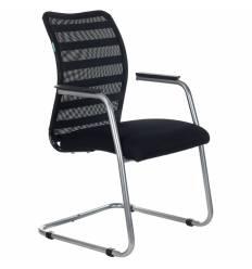Кресло Бюрократ CH-599AV/32B/TW-11 для посетителя, сетка/ткань, цвет черный