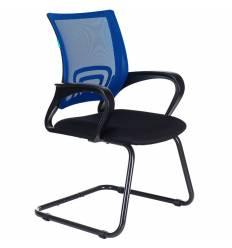 Кресло Бюрократ CH-695N-AV/BL/TW-11 для посетителя, цвет синий/черный, спинка сетка