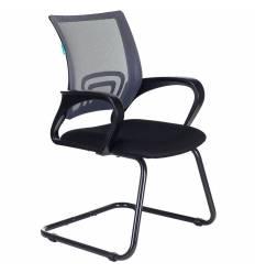 Кресло Бюрократ CH-695N-AV/DG/TW-11 для посетителя, цвет серый/черный, спинка сетка