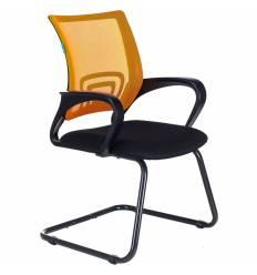 Кресло Бюрократ CH-695N-AV/OR/TW-11 для посетителя, цвет оранжевый/черный, спинка сетка