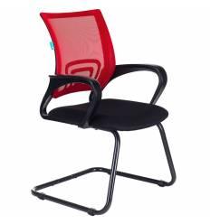 Кресло Бюрократ CH-695N-AV/R/TW-11 для посетителя, цвет красный/черный, спинка сетка