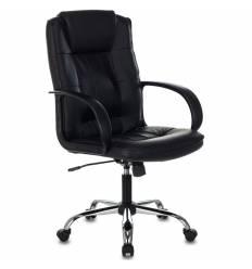 Кресло Бюрократ T-800N/BLACK для руководителя, кожа, цвет черный