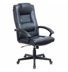 Кресло Бюрократ T-9906N/BLACK для руководителя, кожа,  цвет черный