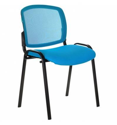 Стул Бюрократ Вики/LB/TW-55, ткань, цвет голубой, спинка сетка