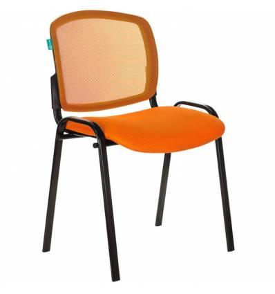 Стул Бюрократ Вики/OR/TW-96-1, ткань, цвет оранжевый, спинка сетка