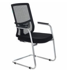 Кресло Бюрократ MC-619N/B/26-B01 для посетителя, цвет черный, спинка сетка