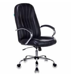 Кресло Бюрократ T-898SL/BLACK для руководителя, хром,  экокожа, цвет черный