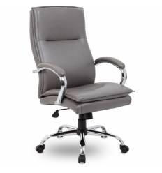 Кресло UTFC Store Куба М-701 для руководителя, хром, экокожа, цвет серый